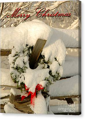 Canvas Print featuring the photograph Wreath  by Alana Ranney