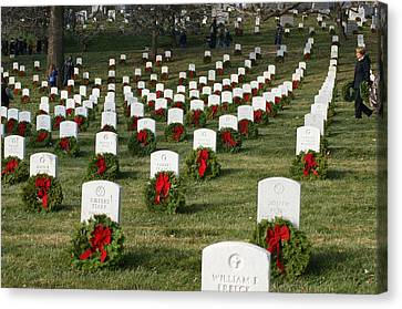 Wreaths Around America Canvas Print