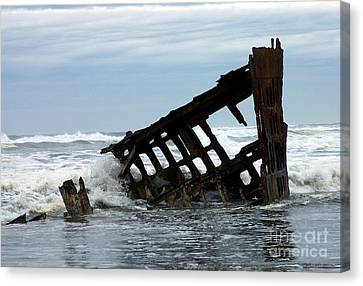 Wreck Of The Peter Iredale Canvas Print by Chalet Roome-Rigdon