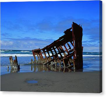 Wreck Of The Peter Iredale Canvas Print by Thomas J Rhodes
