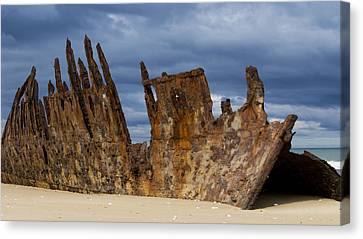 Wreck Of The Trinculo Canvas Print by Heather Provan