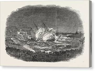 Wreck Of The Troop-ship Charlotte Canvas Print