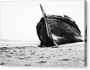 Wreckage On The Bay Canvas Print by Marco Oliveira
