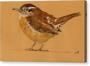 Wren Bird Canvas Print by Juan  Bosco