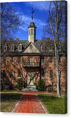 Canvas Print featuring the photograph Wren Building Main Entrance by Jerry Gammon