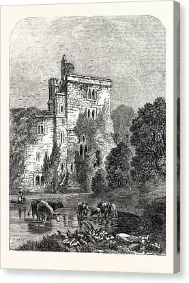 Wressel Castle, Wressle Castle, Wressle Is A Village Canvas Print by English School
