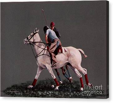 Wrest For The Ball Canvas Print by DiDi Higginbotham