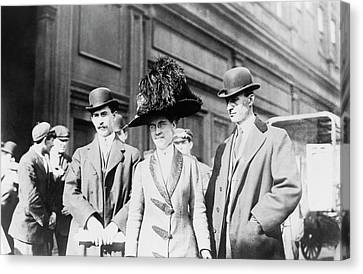 Wright Brothers And Sister Canvas Print by Library Of Congress
