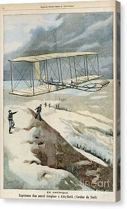 Wright Brothers At Kitty Hawk Canvas Print