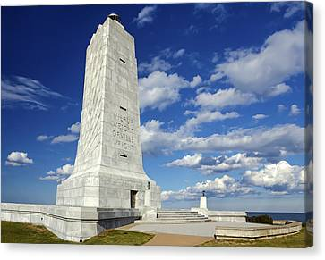 Wright Brothers Memorial D Canvas Print by Greg Reed
