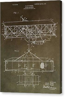 Wright Brothers Original Patent Canvas Print by Dan Sproul