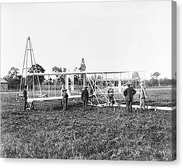 Wright Flyer II-iii And Catapult Canvas Print by Library Of Congress