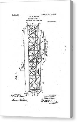 Wright Flyer Patent Canvas Print by Us National Archives