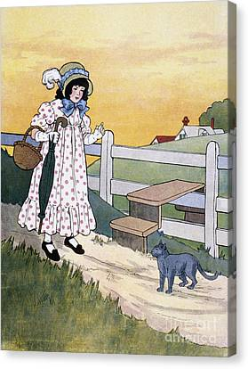 Wright: Pussy Cat Canvas Print by Granger
