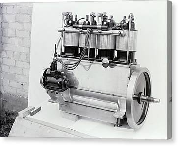 Pioneer Museum Canvas Print - Wright Vertical 4 Aircraft Engine by Library Of Congress