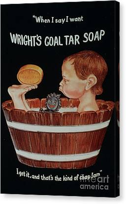 Wright�s Coal Tar 1920s Uk Baths Canvas Print by The Advertising Archives