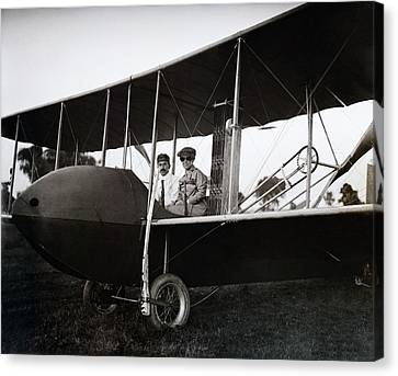 Wrights In Model Hs Airplane Canvas Print by Library Of Congress