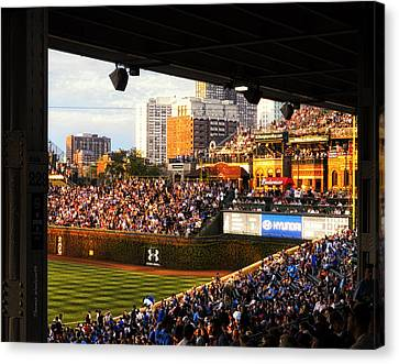 Wrigley Field Aisle 229 Canvas Print by Thomas Woolworth