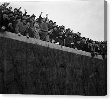 Wrigley Field Chicago Bears Football Fans Canvas Print by Retro Images Archive