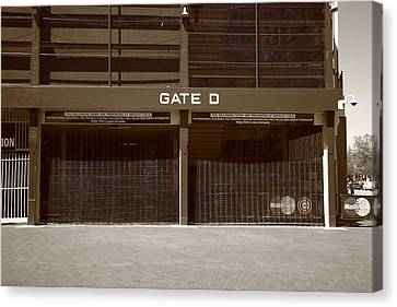 Wrigley Field - Chicago Cubs 24 Canvas Print by Frank Romeo