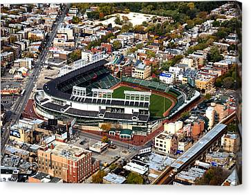 Wrigley Field Chicago Sports 01 Canvas Print by Thomas Woolworth