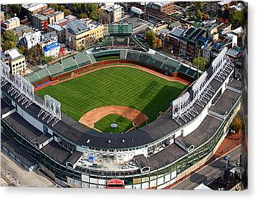 Wrigley Field Chicago Sports 03 Canvas Print by Thomas Woolworth