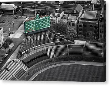Wrigley Field Chicago Sports 04 Selective Coloring Canvas Print by Thomas Woolworth
