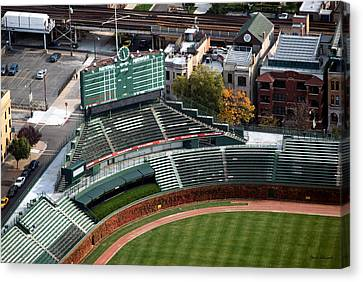 Wrigley Field Chicago Sports 04 Canvas Print by Thomas Woolworth