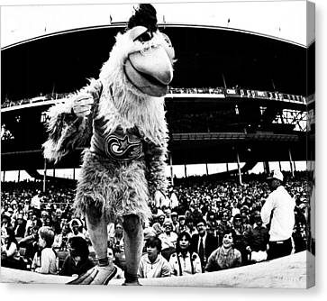 Wrigley Field Chickenman  Canvas Print by Retro Images Archive