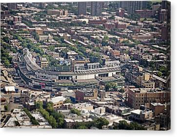 Wrigley Field - Home Of The Chicago Cubs Canvas Print by Adam Romanowicz