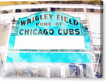 Wrigley Field Sign - X-ray Canvas Print by Stephen Stookey