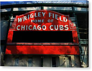 Wrigley Field Sign -- No.1 Canvas Print by Stephen Stookey