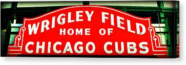 Wrigley Field Sign Canvas Print by Stephen Stookey