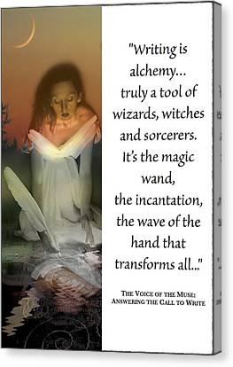 Writing Is Alchemy Canvas Print