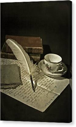 Writing Canvas Print