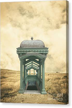 Wrong Train Right Station Canvas Print by Edward Fielding