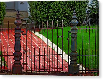 Canvas Print featuring the photograph Wrought Iron Gate by Rowana Ray