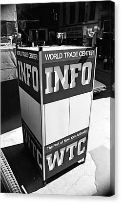 Wtc Info Sign Canvas Print