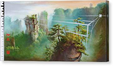 Canvas Print featuring the painting Wulingyuan by Dave Platford
