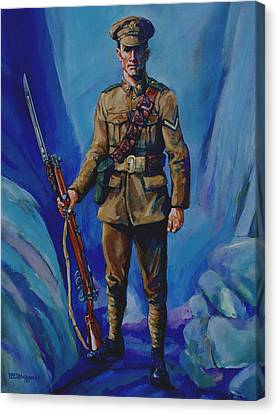 Ww 1 Soldier Canvas Print by Derrick Higgins