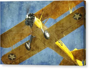 Stearman Trainer Bi Plane Canvas Print by Thomas Woolworth