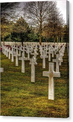 Canvas Print featuring the photograph Ww II War Memorial Cemetery by Elf Evans