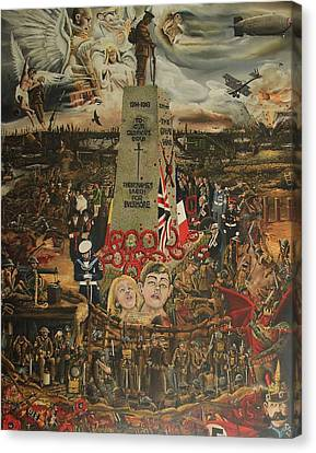 Special Edition  Comemorative Ww1 1914-1918 Painting Canvas Print by John Palliser