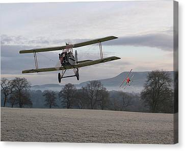 Ww1 - Catch Me If You Can Canvas Print by Pat Speirs