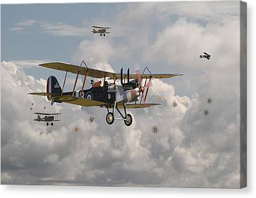 Ww1 Canvas Print - Ww1 Re8 Aircraft by Pat Speirs