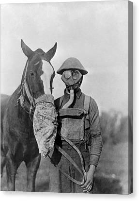 Wwi Gas Masks Canvas Print by Otis Historical Archives, National Museum Of Health And Medicine