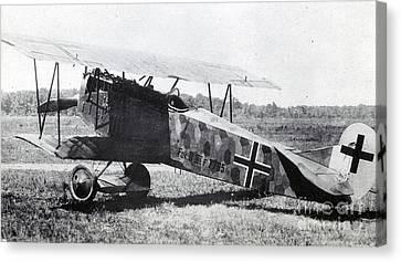 Wwi, German Fokker D Vii Fighter Plane Canvas Print