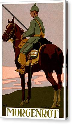 Wwi German Uhlan Canvas Print by Historic Image
