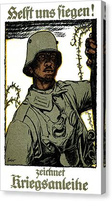 Wwi German War Bond Poster Canvas Print by Historic Image