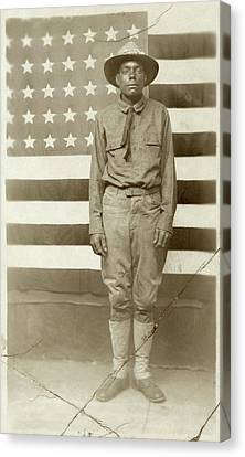 Wwi Soldier, C1916 Canvas Print by Granger